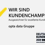 Zum Champion gewählt: opta data Gruppe überzeugt seine Kunden